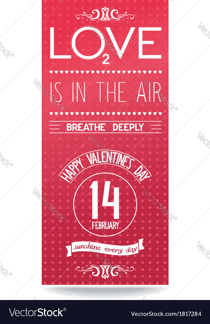 Just valentines day flyer with text design vector | Price: 1 Credit (USD $1)