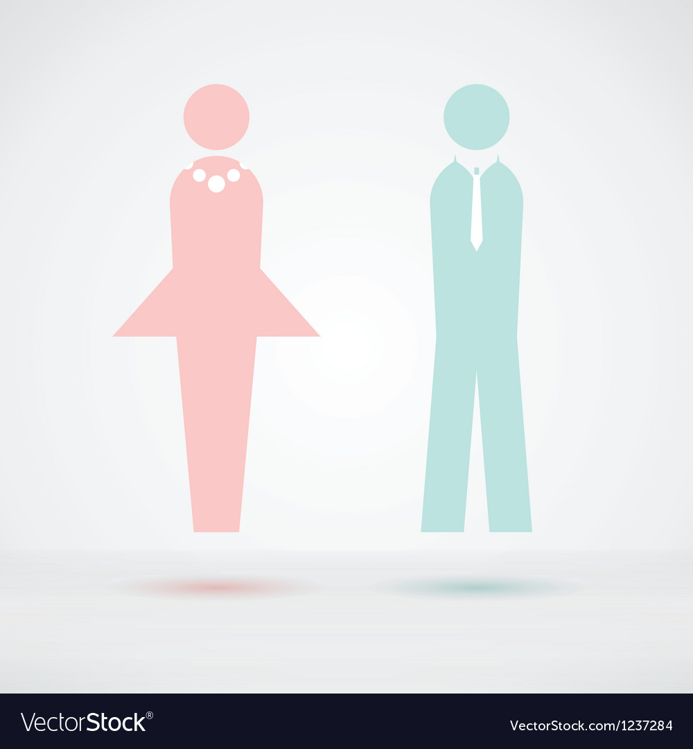 Man and woman cool silhouette vector | Price: 1 Credit (USD $1)