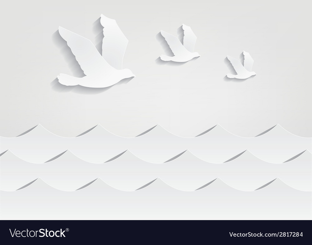 Paper bird vector | Price: 1 Credit (USD $1)