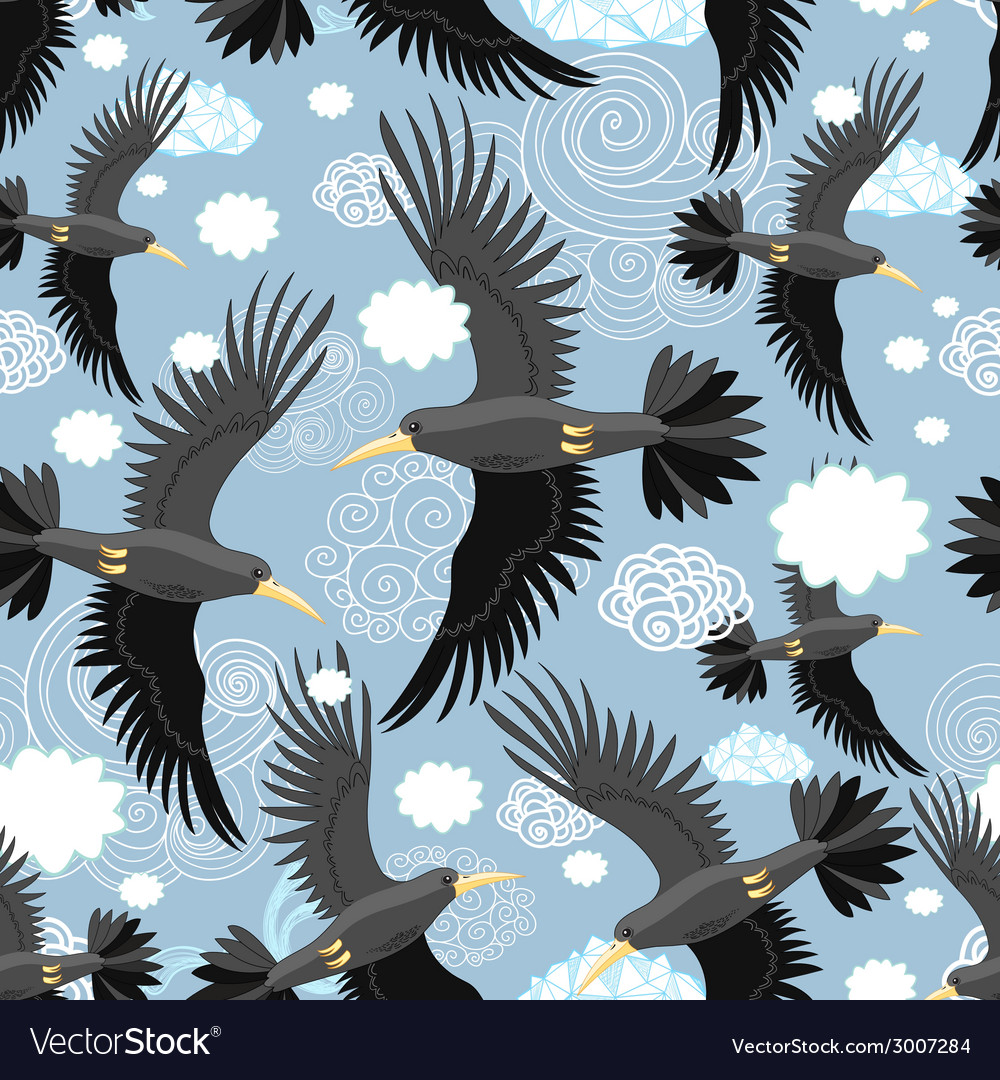 Pattern of the black rooks vector | Price: 1 Credit (USD $1)