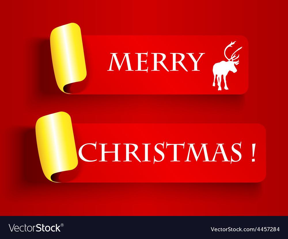 Peeling label-merry christmas vector | Price: 1 Credit (USD $1)