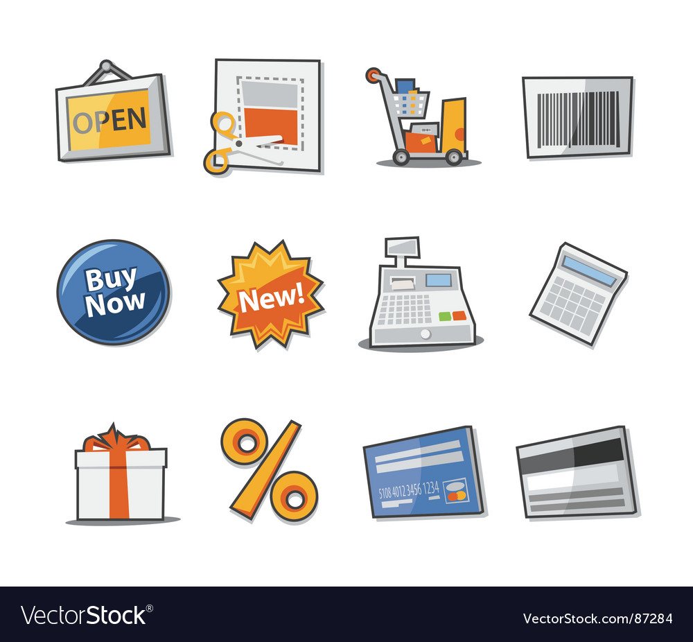 Retail icon set vector | Price: 1 Credit (USD $1)