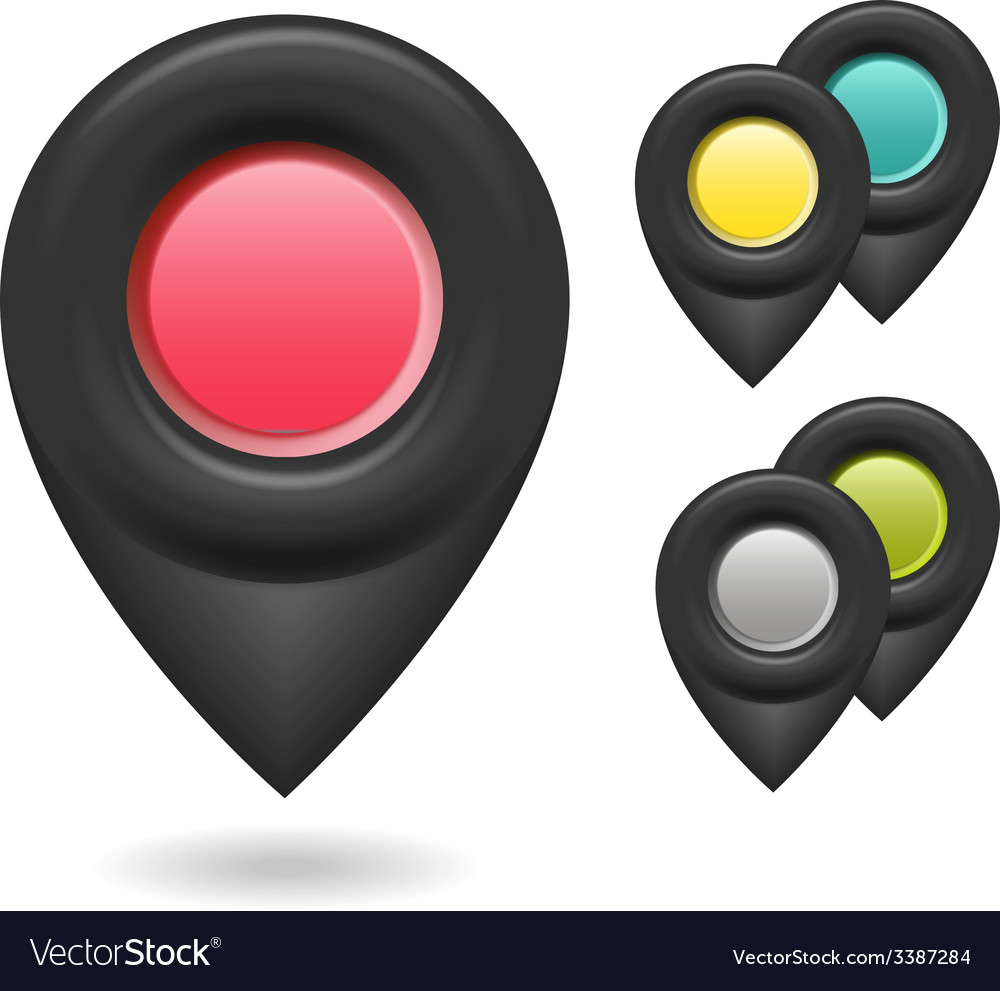 Set of colorful 3d buttons vector | Price: 1 Credit (USD $1)