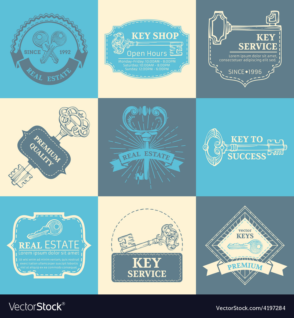 Set of keys design elements vector | Price: 1 Credit (USD $1)