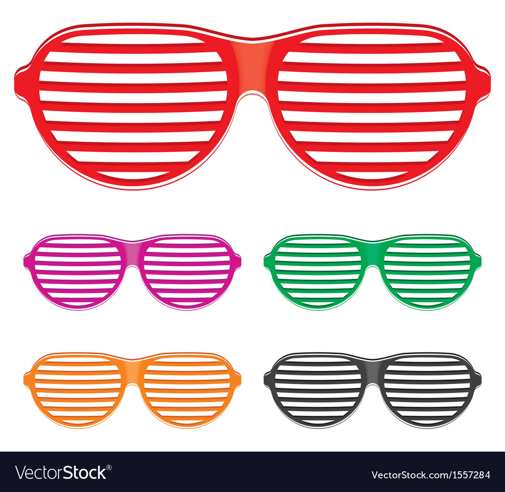 Shutter shades sun glasses collection vector | Price: 1 Credit (USD $1)