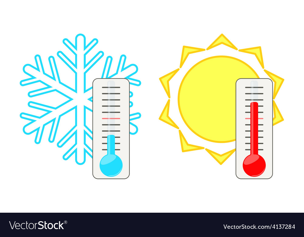 Two thermometers vector | Price: 1 Credit (USD $1)