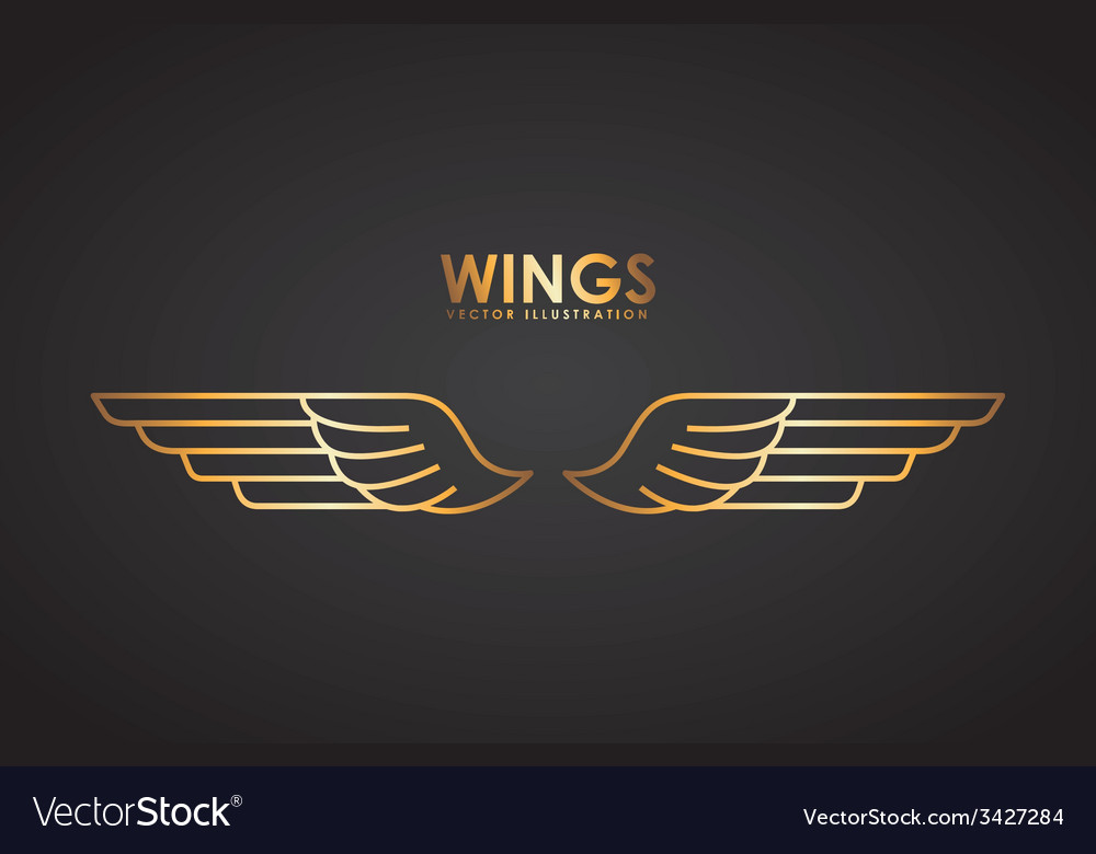 Wings design vector | Price: 1 Credit (USD $1)