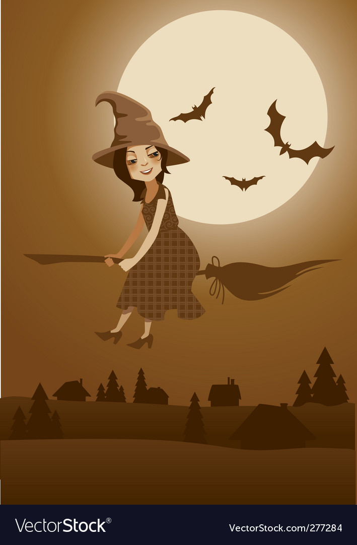 Witch vector | Price: 3 Credit (USD $3)