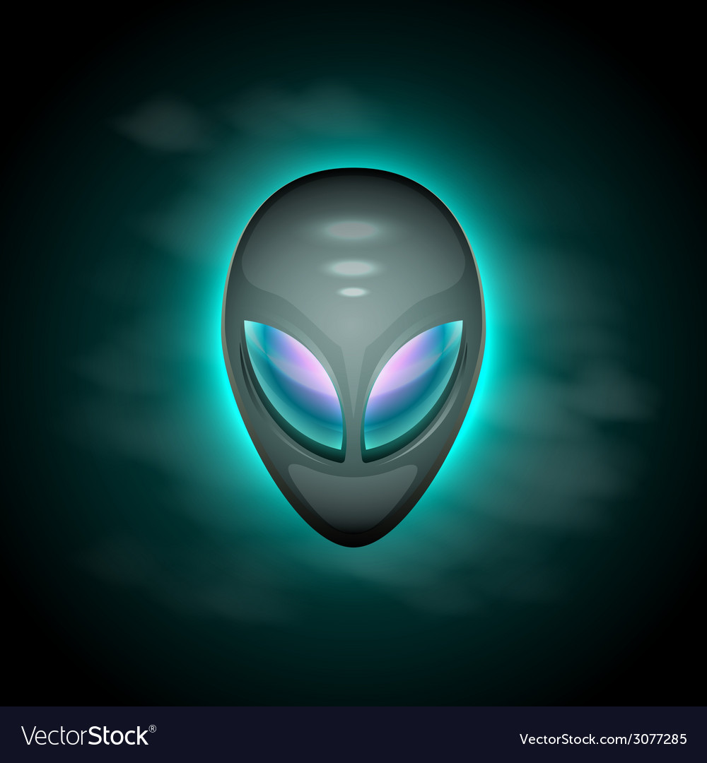 Alien head vector | Price: 1 Credit (USD $1)