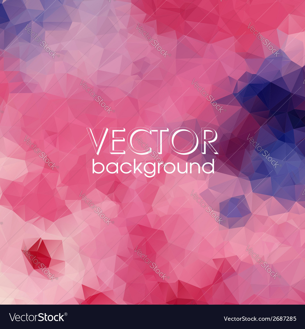Colorful abstract background with triangles vector | Price: 1 Credit (USD $1)