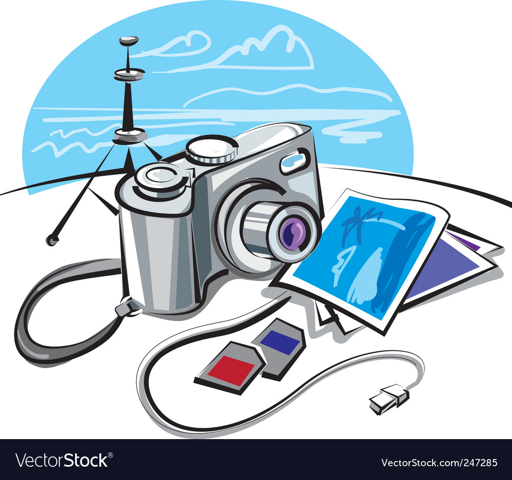 Digital photo camera vector | Price: 3 Credit (USD $3)