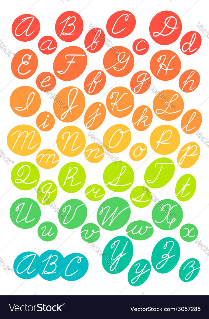 Hand drawn bright alphabet vector | Price: 1 Credit (USD $1)