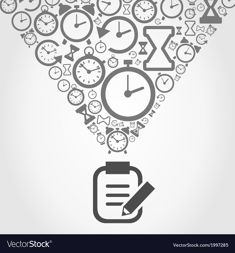 Hours from notebook vector | Price: 1 Credit (USD $1)