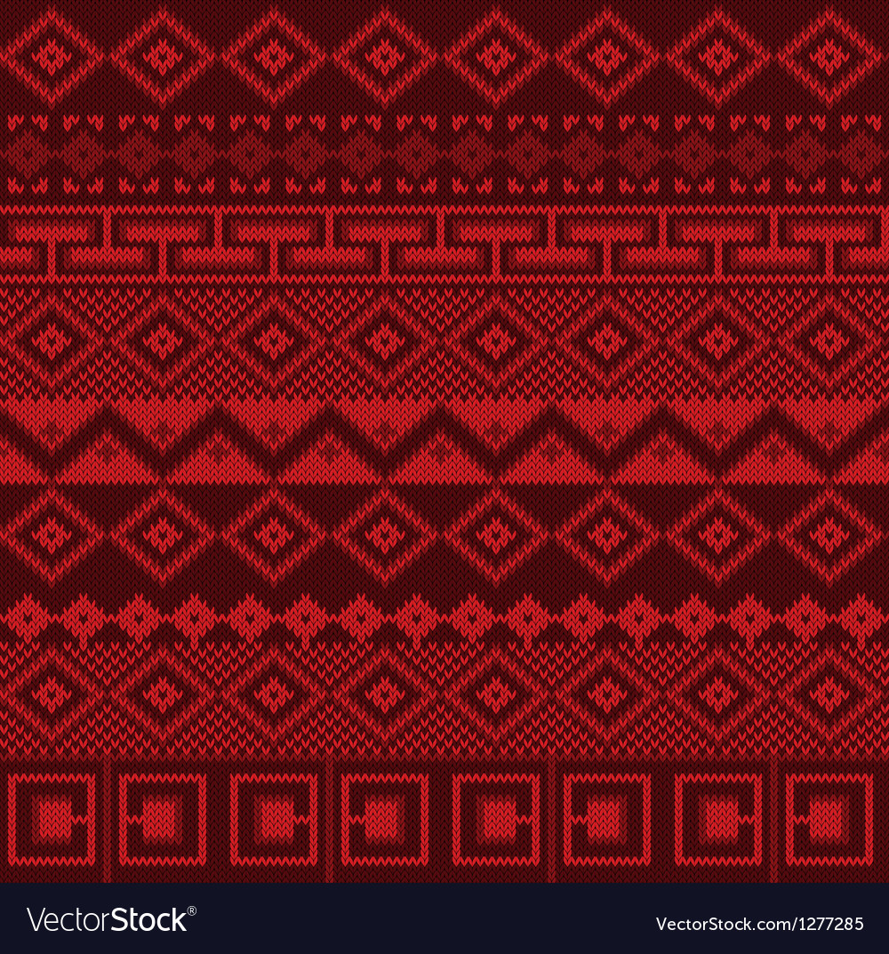 Knitted background in fair isle style seamless vector | Price: 1 Credit (USD $1)