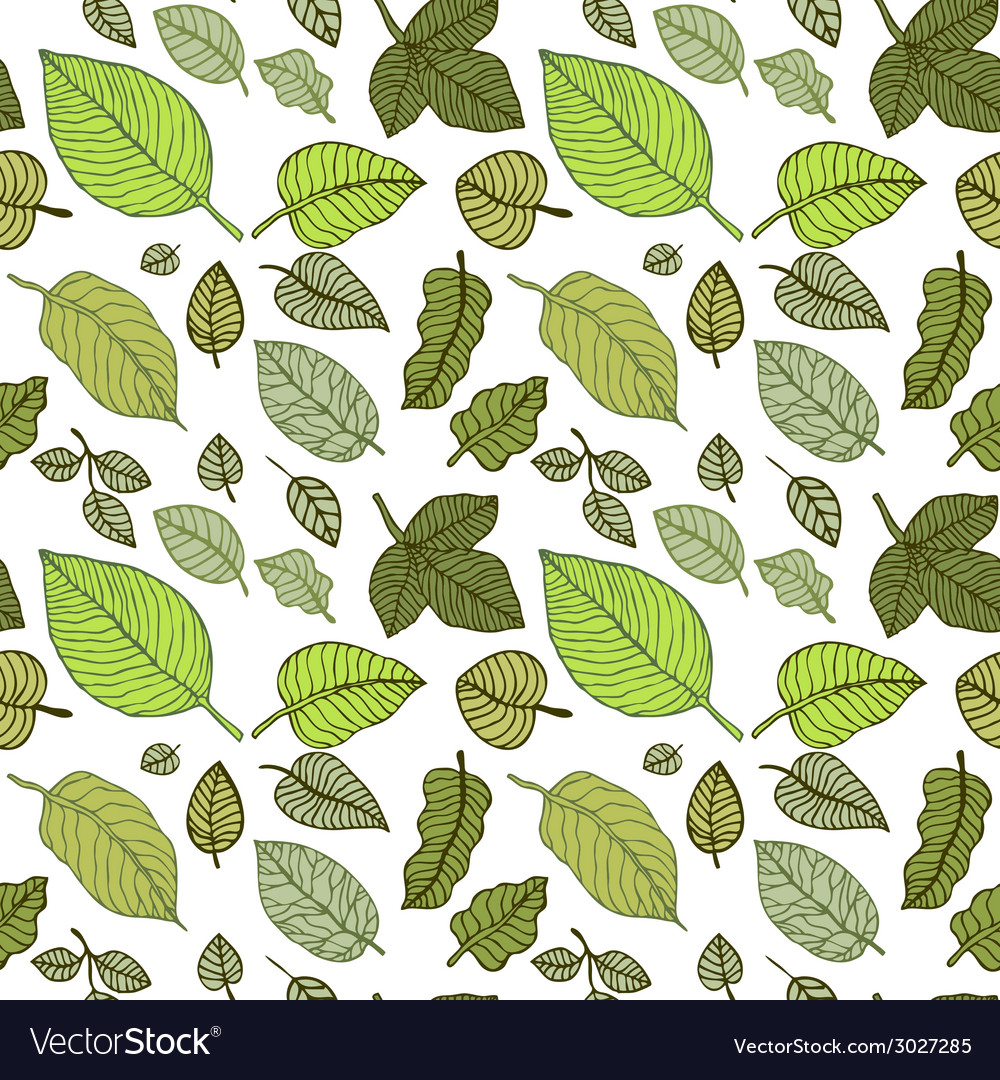 Leaves seamless background vector | Price: 1 Credit (USD $1)