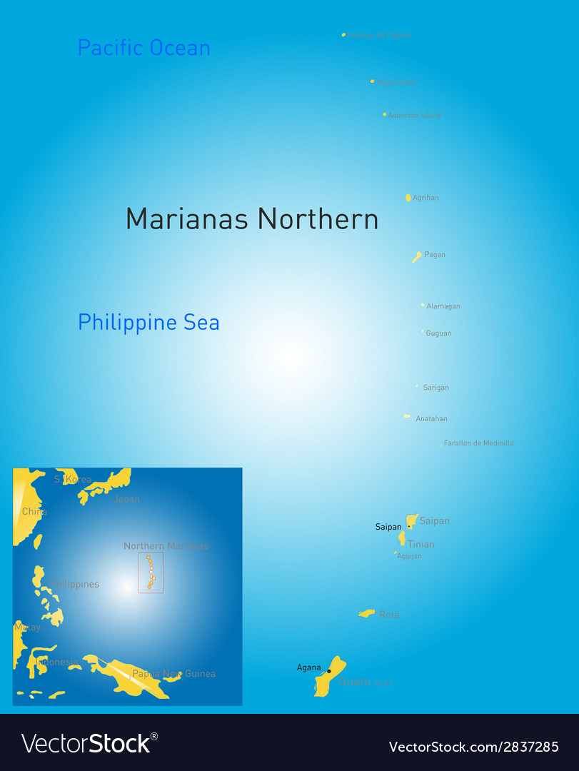 Northern mariana islands map vector | Price: 1 Credit (USD $1)