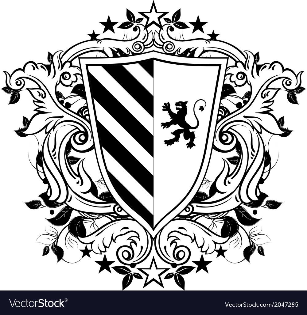 Ornamental heraldic shield vector | Price: 1 Credit (USD $1)