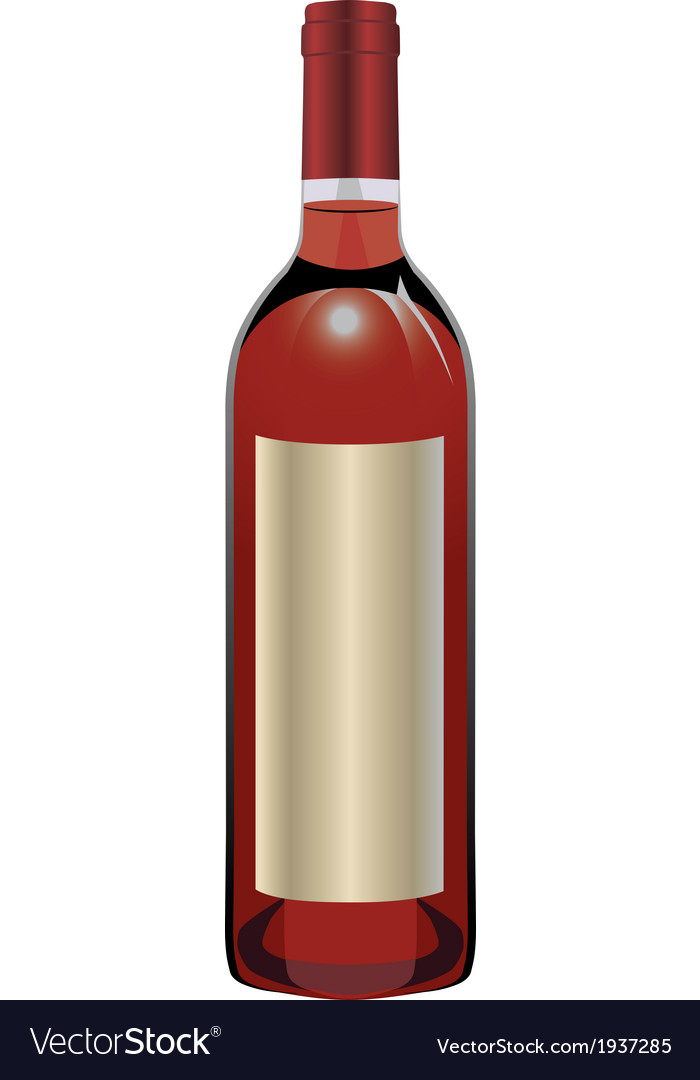 Rose wine bottle vector | Price: 1 Credit (USD $1)