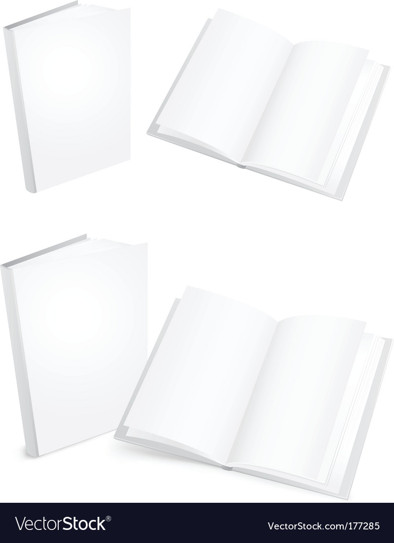 White books vector | Price: 1 Credit (USD $1)