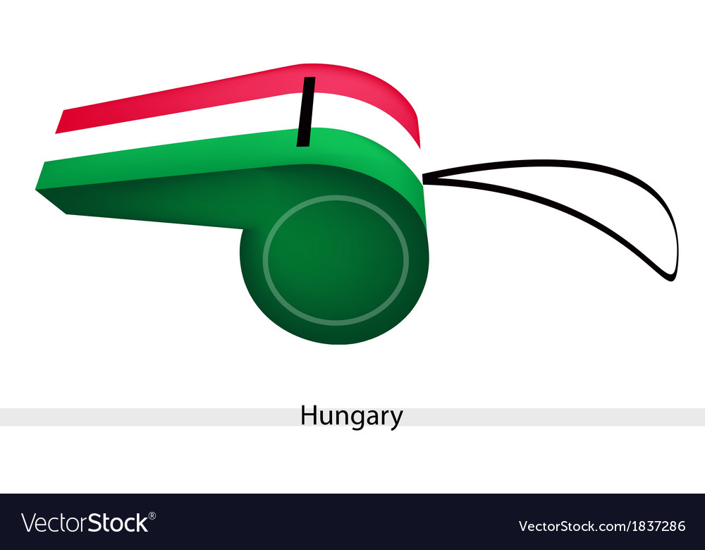 A red white and green whistle of hungary vector | Price: 1 Credit (USD $1)