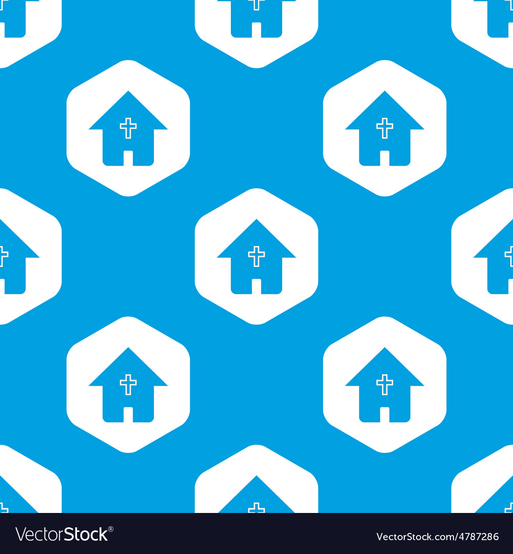 Christian house hexagon pattern vector | Price: 1 Credit (USD $1)