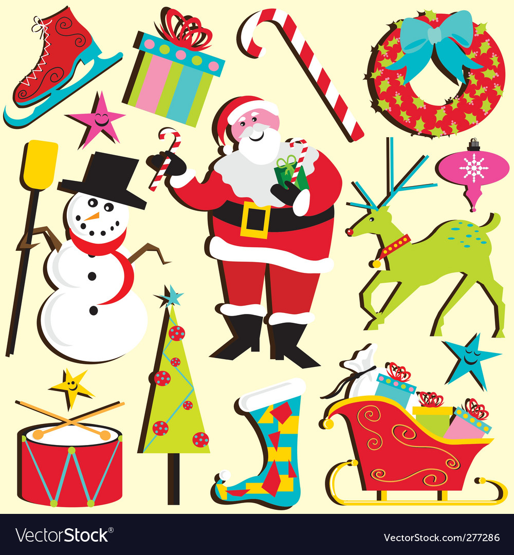 Christmas clipart vector | Price: 3 Credit (USD $3)