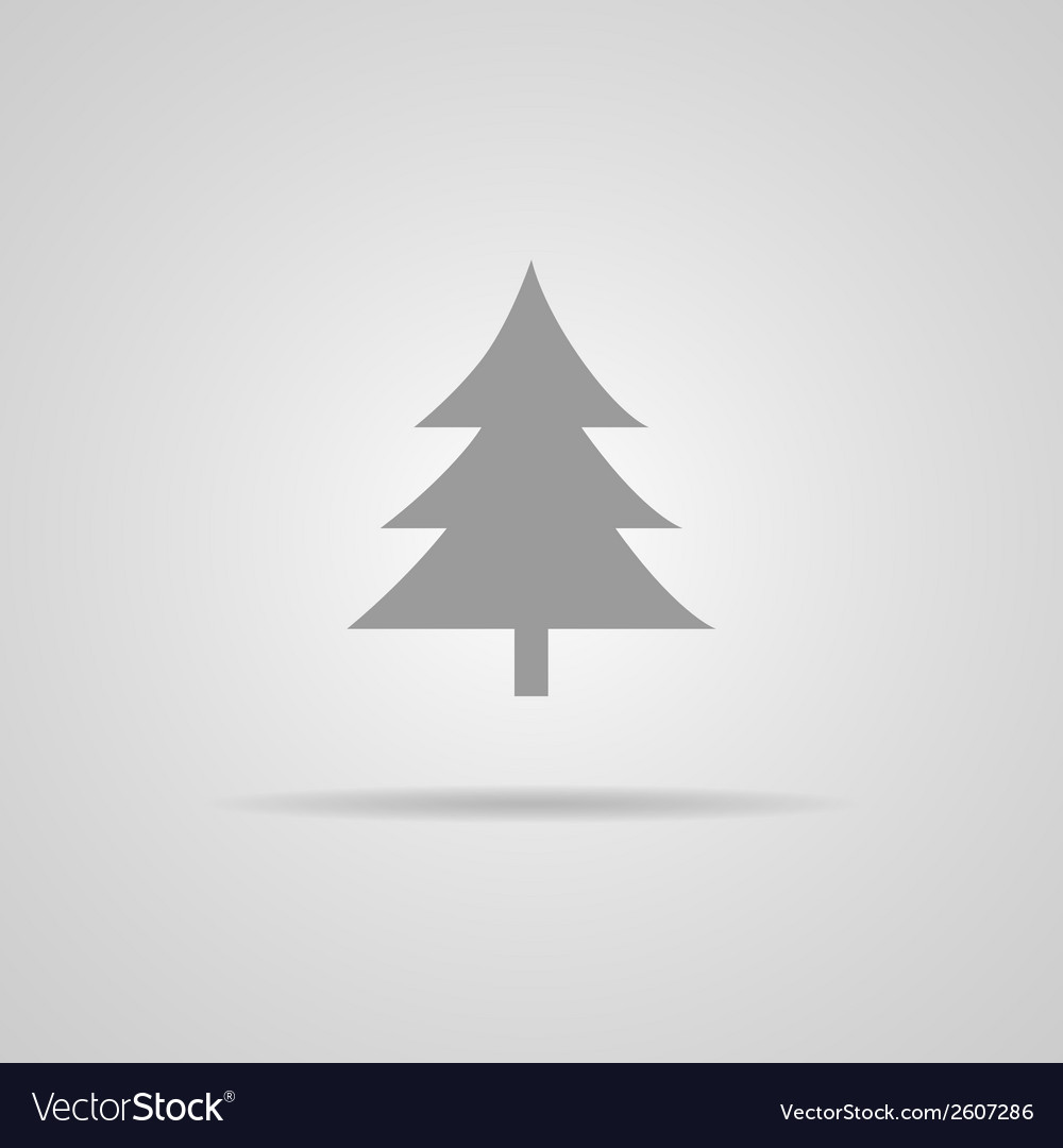 Cristmass tree icon vector | Price: 1 Credit (USD $1)