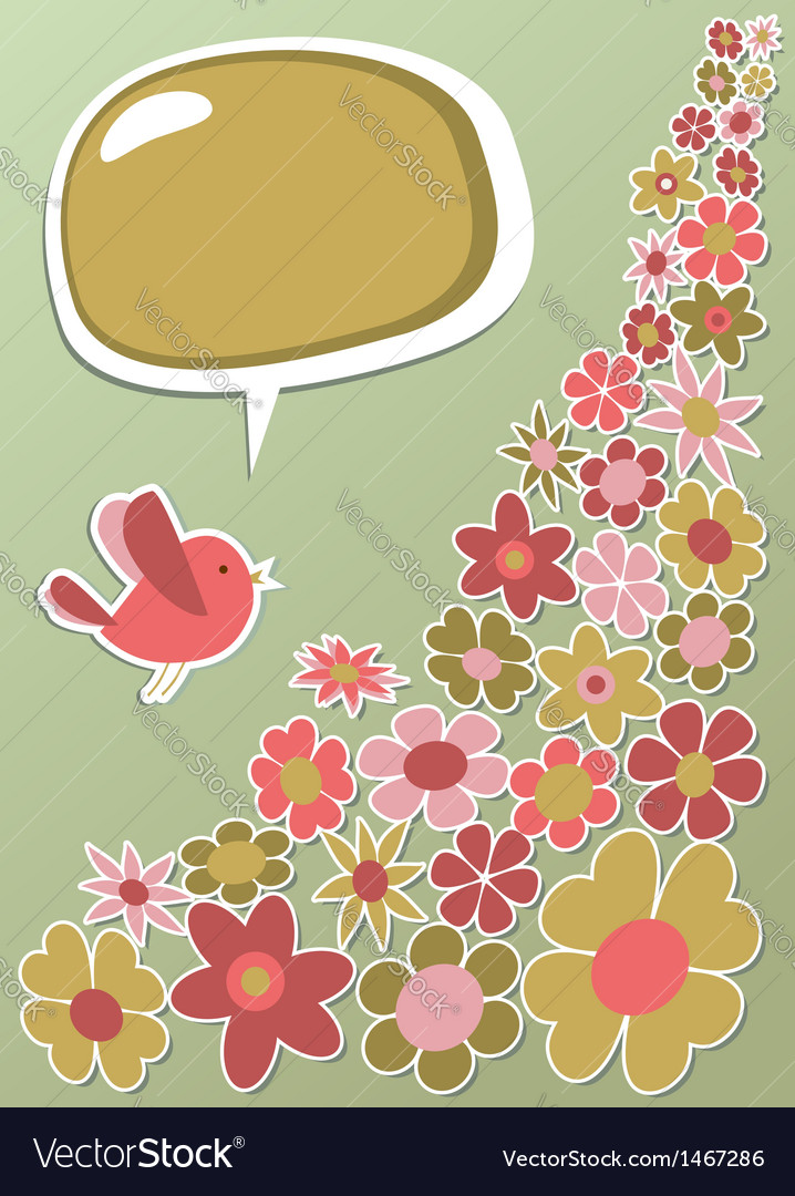 Fresh social media bird communication vector | Price: 1 Credit (USD $1)