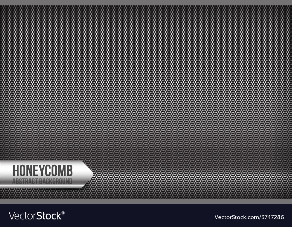 Honeycomb chrome and grey abstract background vector | Price: 1 Credit (USD $1)