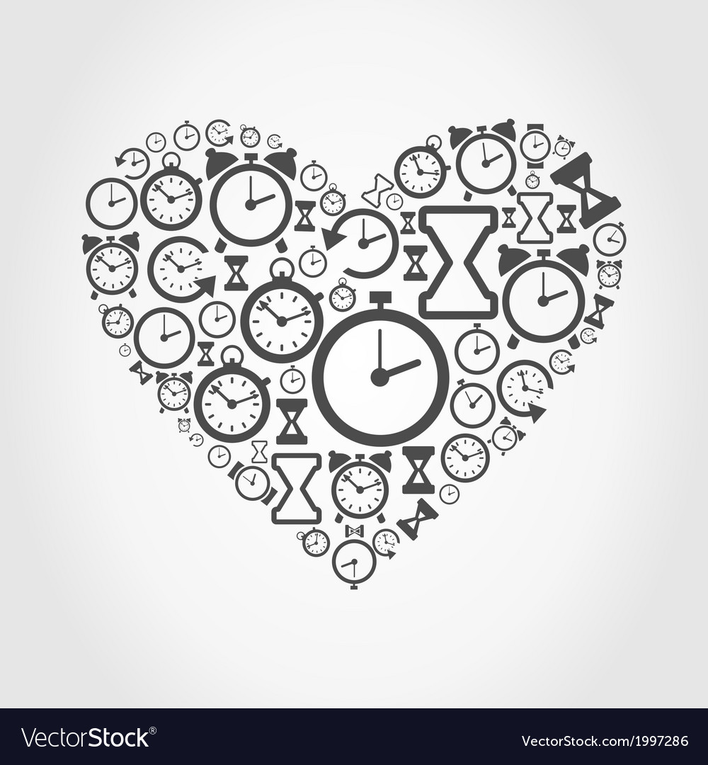 Hours heart vector | Price: 1 Credit (USD $1)