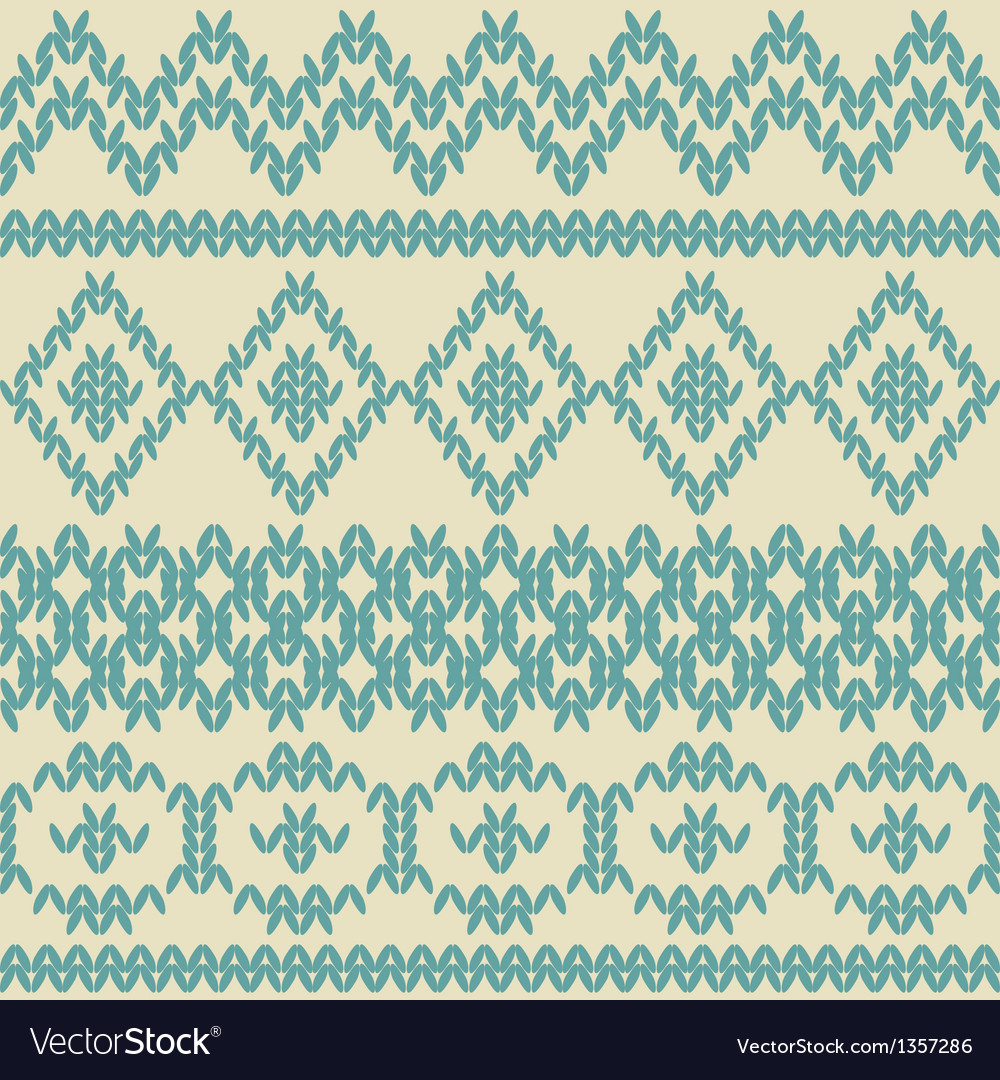 Knitted seamless pattern in ethnic style vector | Price: 1 Credit (USD $1)