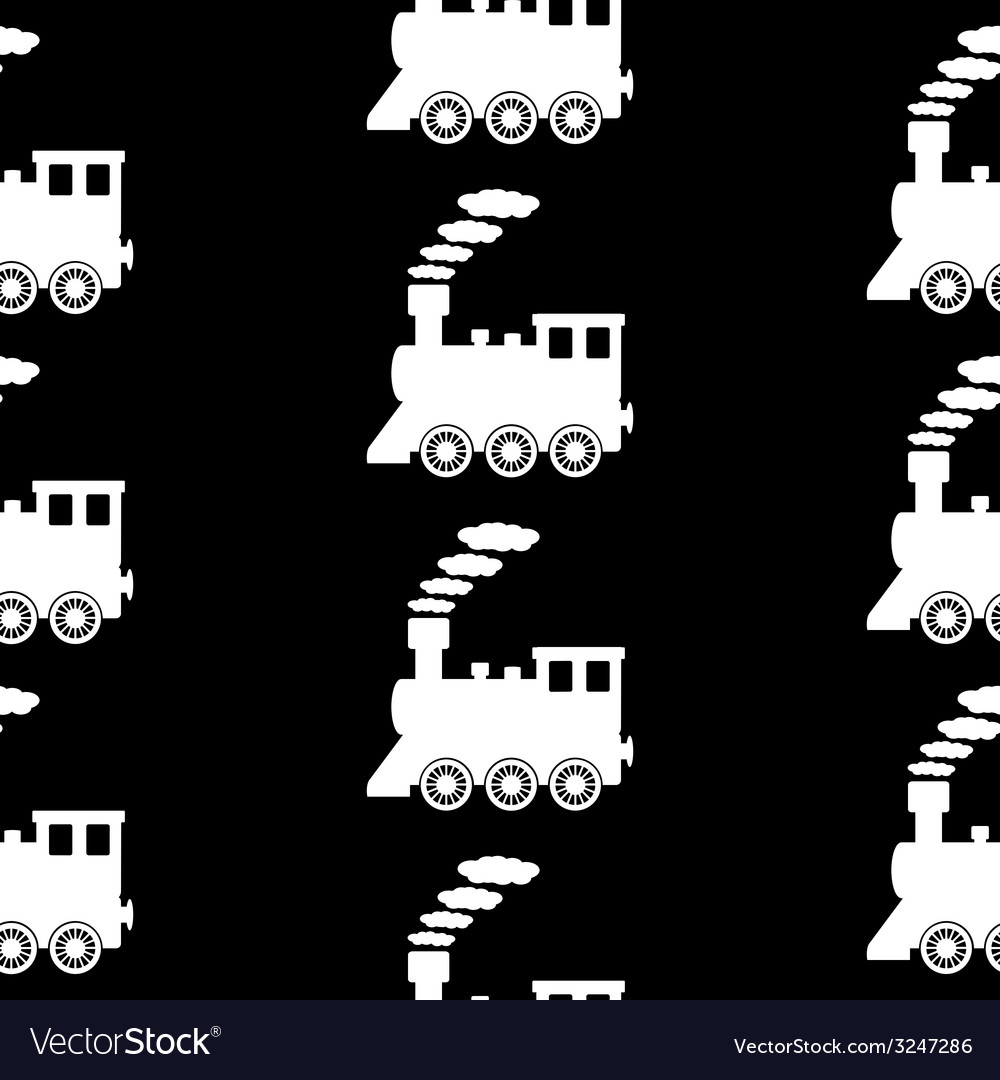 Locomotive symbol seamless pattern vector | Price: 1 Credit (USD $1)
