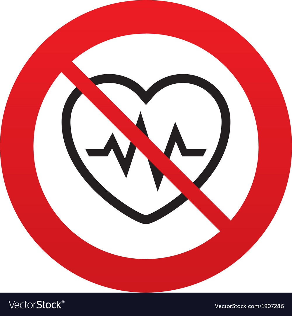 No heartbeat sign icon cardiogram symbol vector   Price: 1 Credit (USD $1)