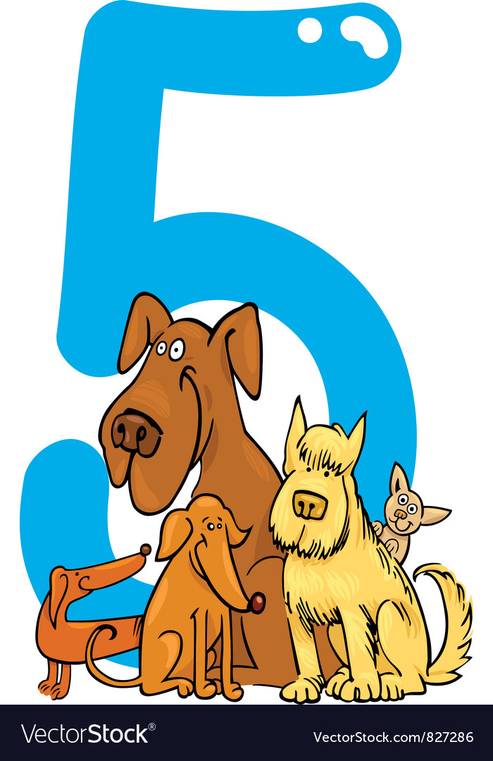 Number five vector | Price: 3 Credit (USD $3)