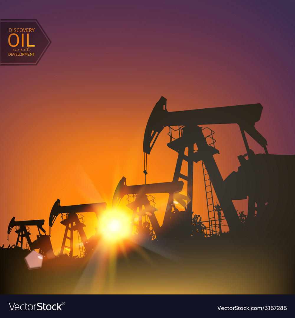 Oil pumps vector | Price: 1 Credit (USD $1)