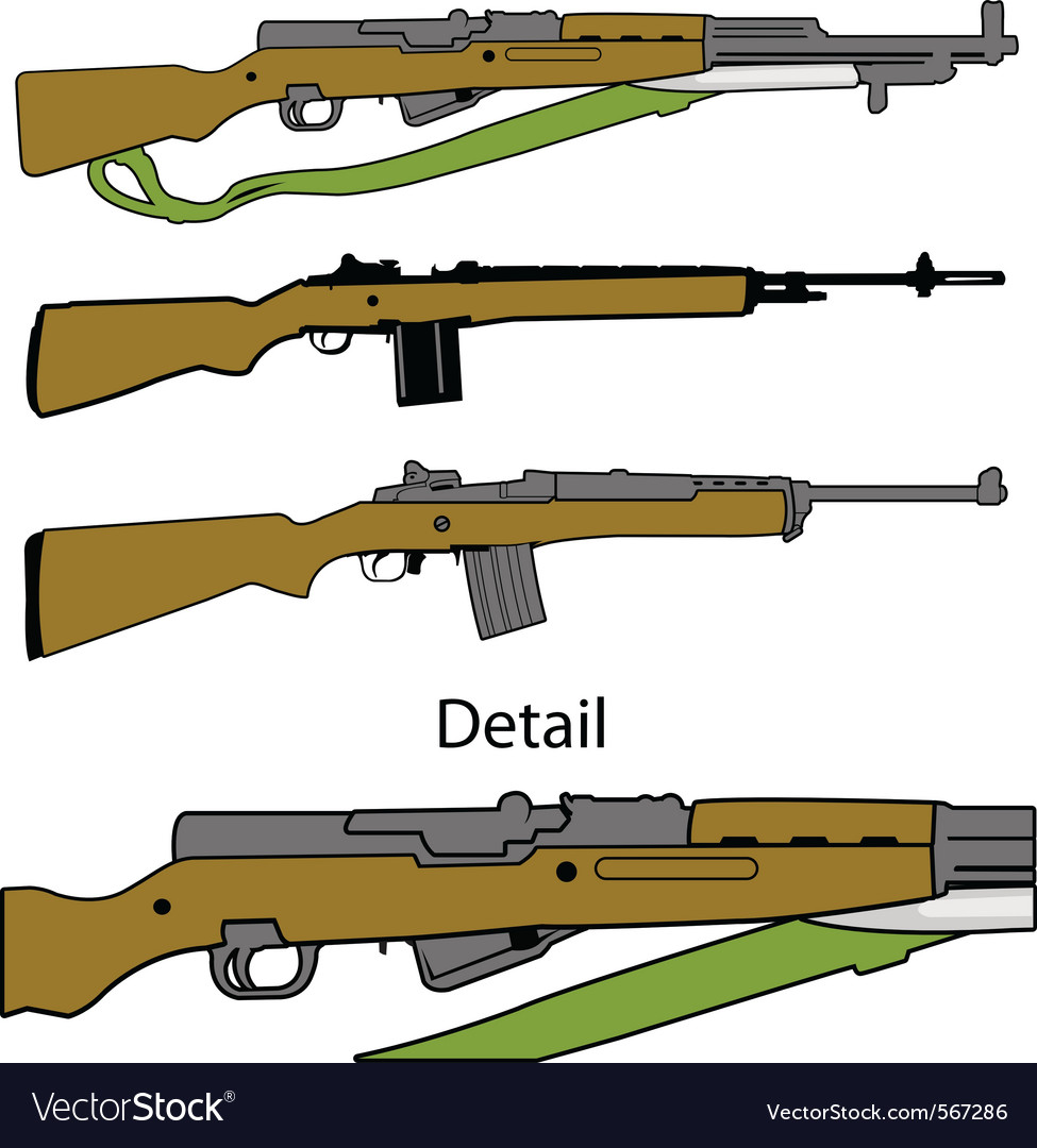 Semi automatic rifles vector | Price: 1 Credit (USD $1)