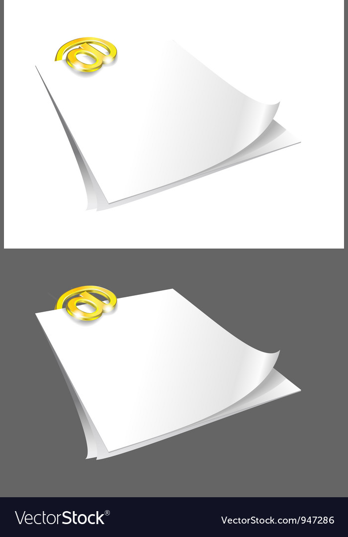 Sheets of paper and gold binder vector | Price: 1 Credit (USD $1)
