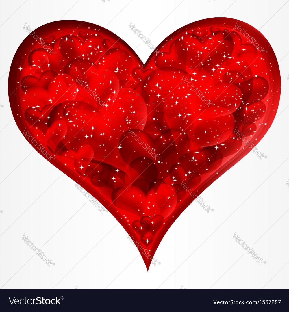 Big red glitter heart vector | Price: 1 Credit (USD $1)