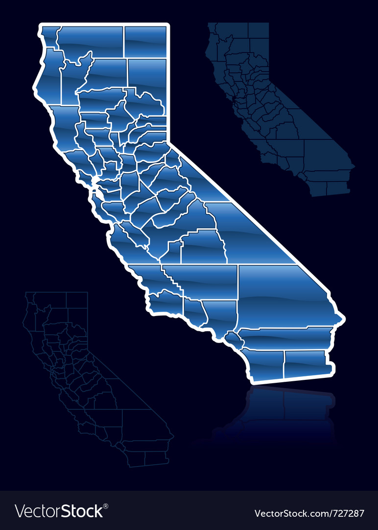 Counties of california vector | Price: 1 Credit (USD $1)