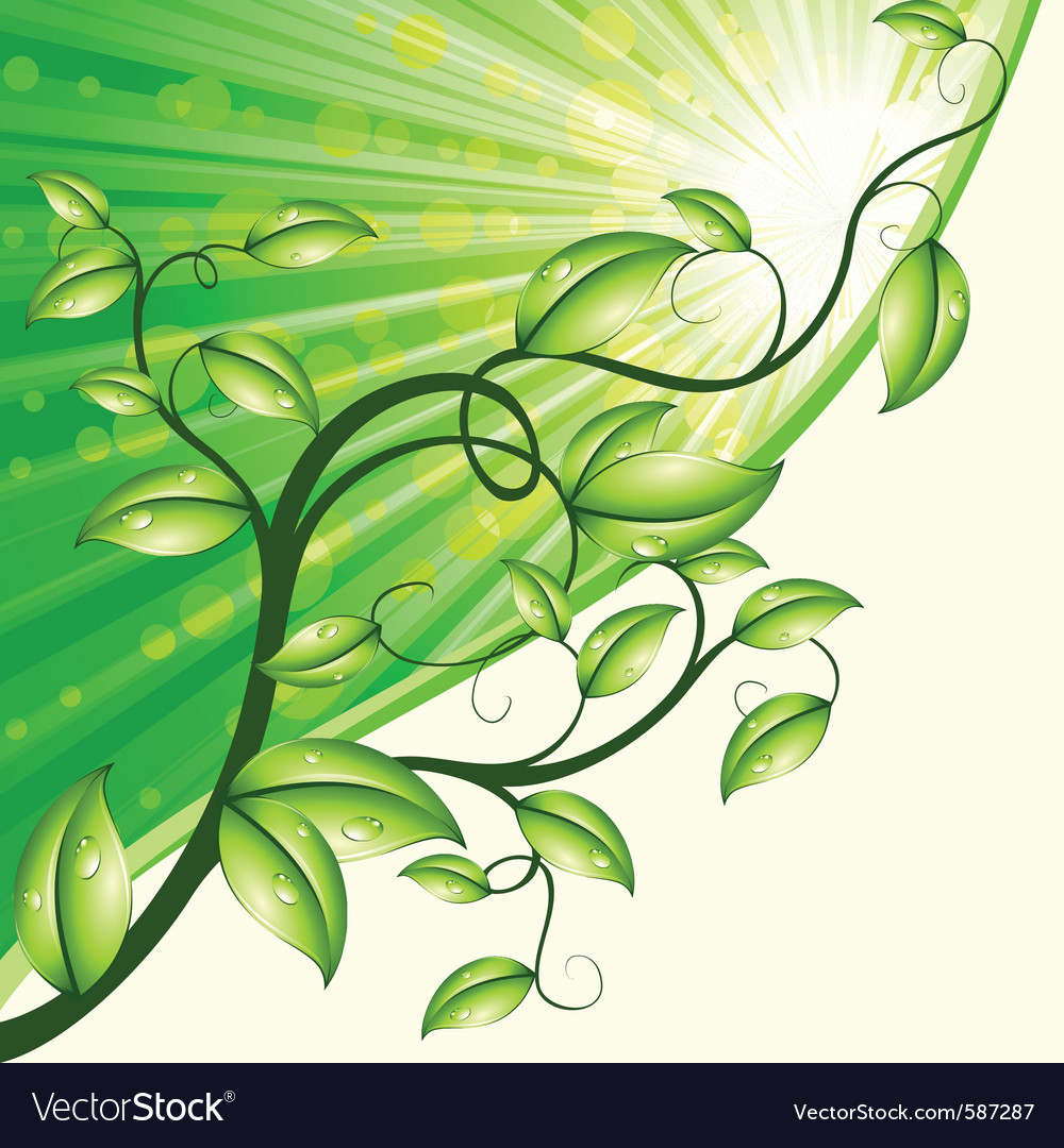 Dynamic nature design in green and tan vector | Price: 1 Credit (USD $1)