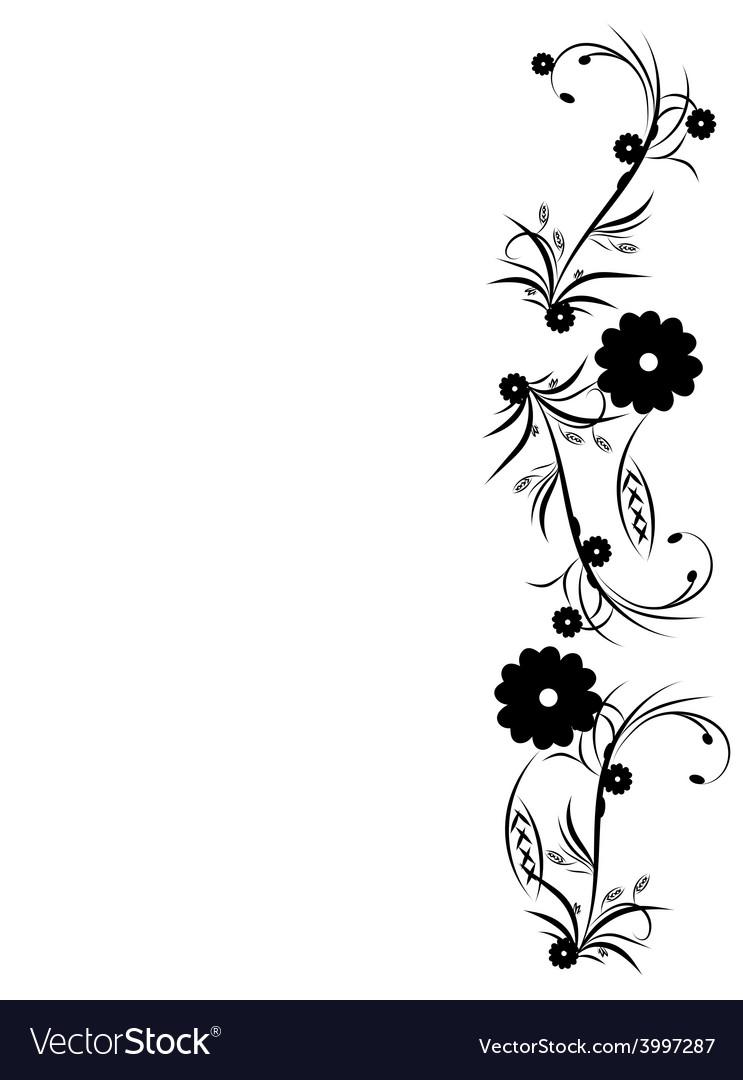 Floral background design vector | Price: 1 Credit (USD $1)