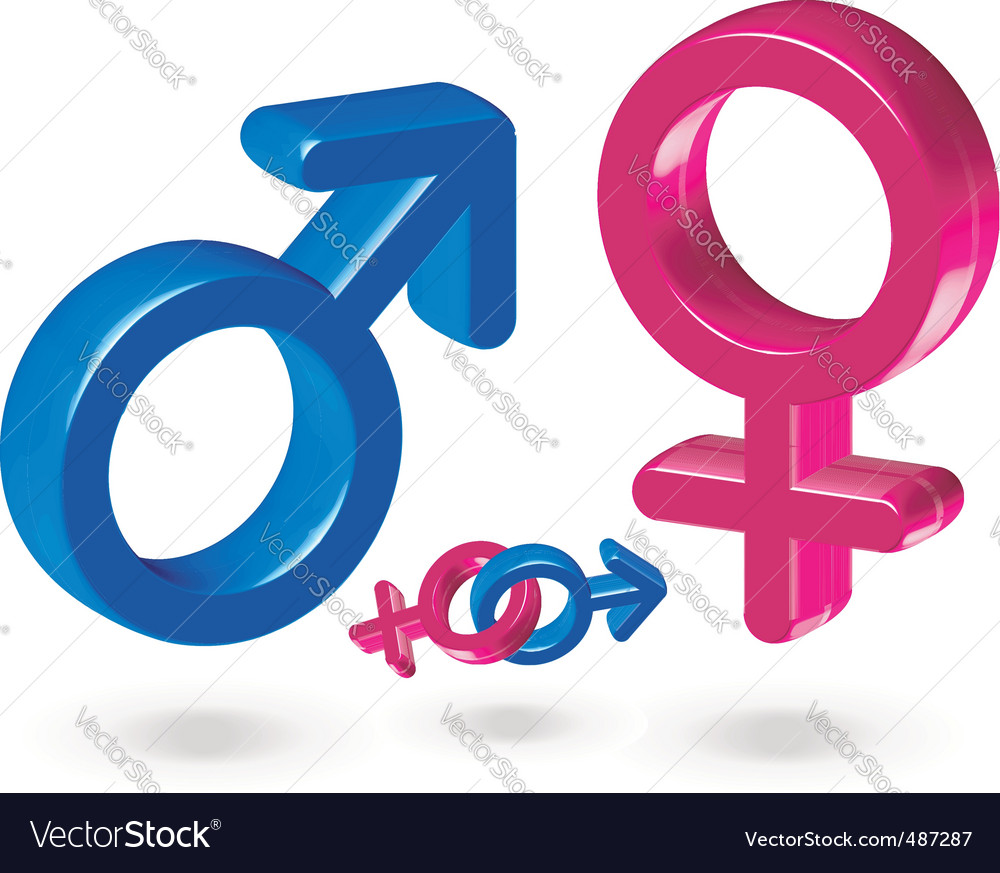 Male and female gender symbol vector | Price: 1 Credit (USD $1)