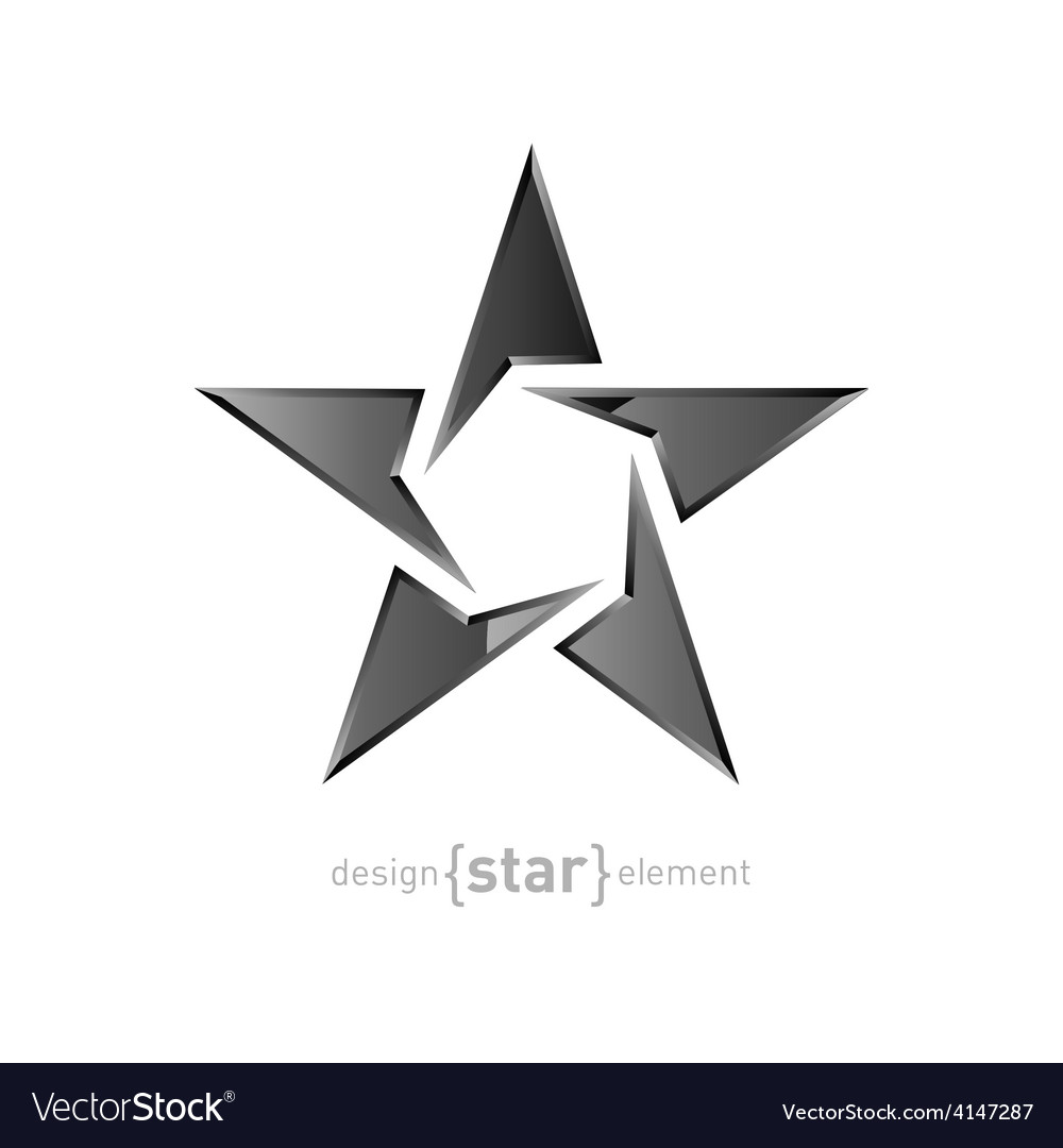 Metal star on white background vector   Price: 1 Credit (USD $1)