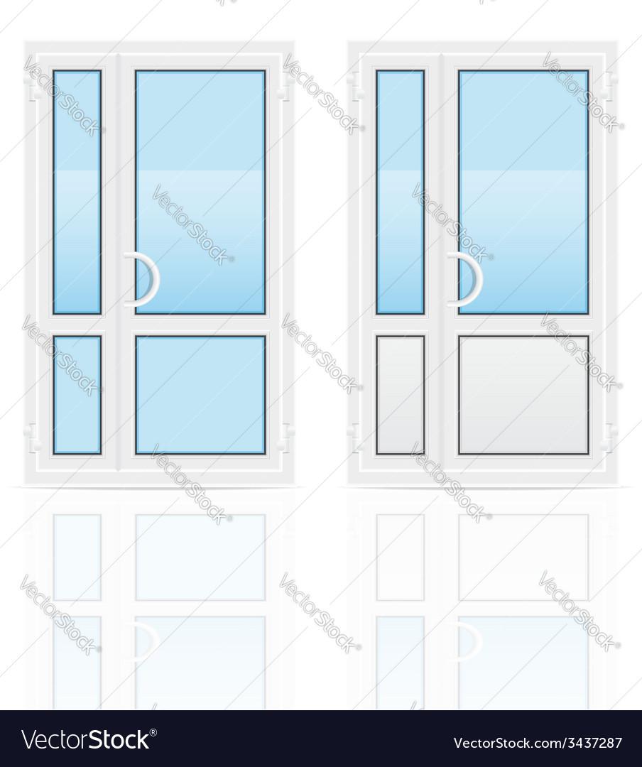 Plastic doors 02 vector | Price: 1 Credit (USD $1)