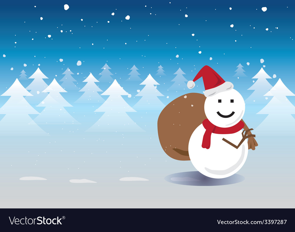 Santa snowman vector | Price: 1 Credit (USD $1)