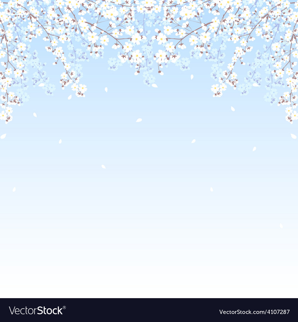 Tree branches frame vector | Price: 1 Credit (USD $1)