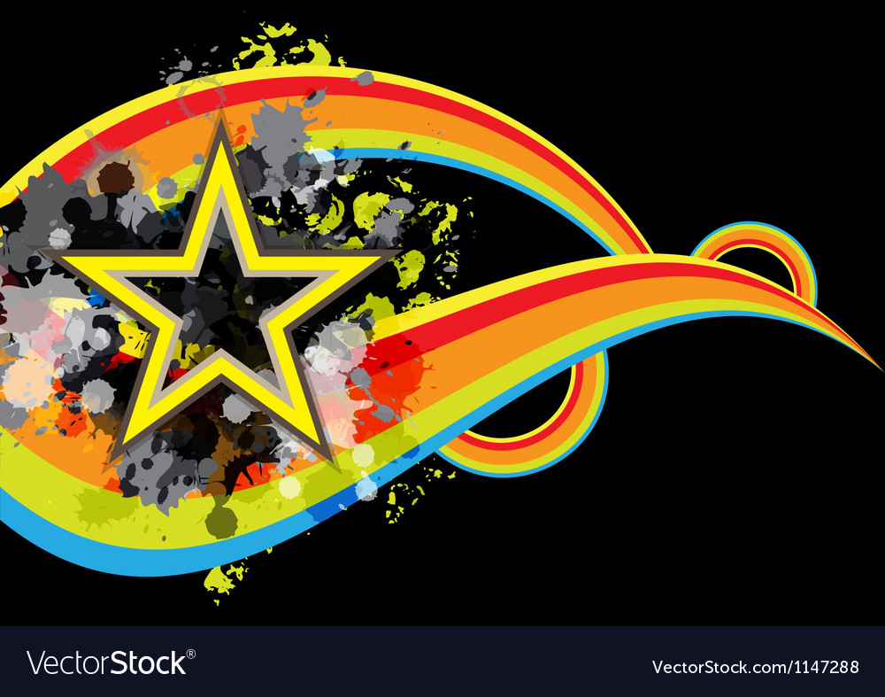 Abstract star retro banner design vector | Price: 1 Credit (USD $1)