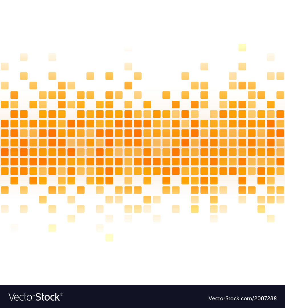 Abstract yellow pixel background vector | Price: 1 Credit (USD $1)