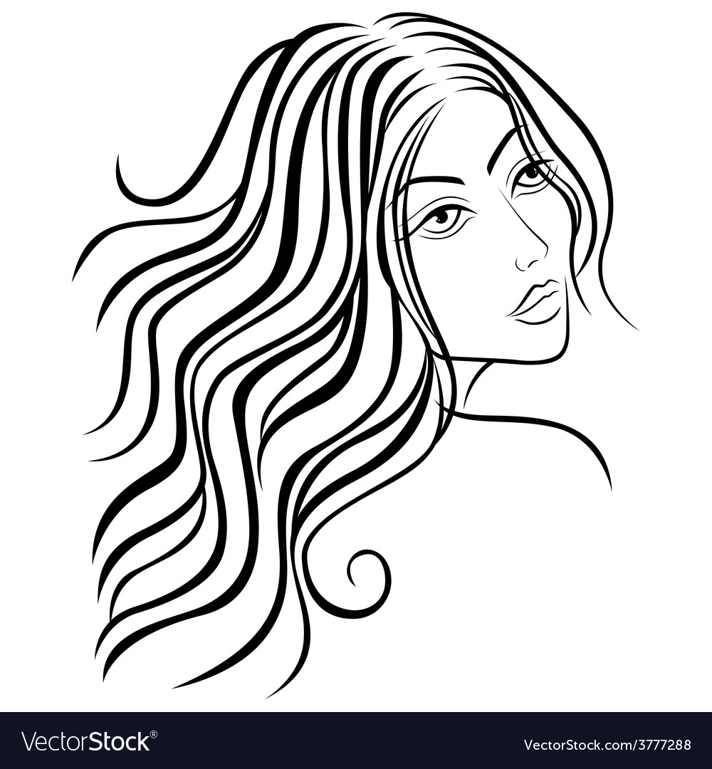 Beautiful women sketching head vector | Price: 1 Credit (USD $1)