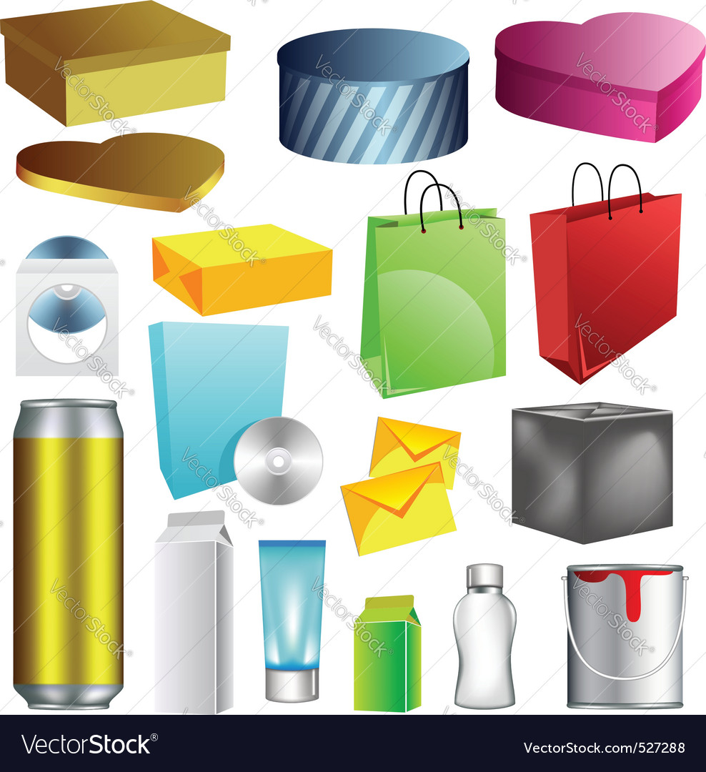 Blank packaging templates vector | Price: 1 Credit (USD $1)
